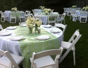 Back Yard Party Wedding Padded White Chairs